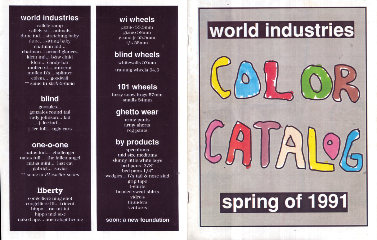 WORLD CATALOG 1991 SPRING 001